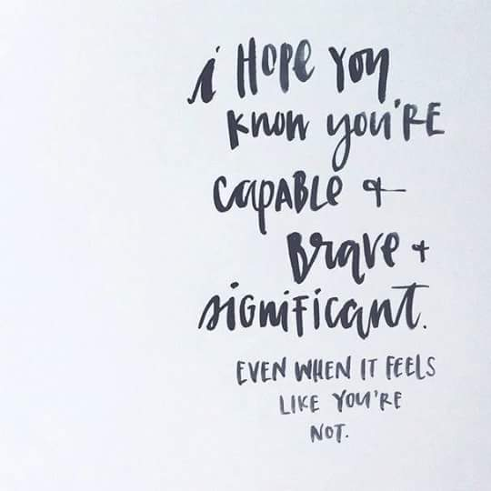 Je bent al helemaal okay!